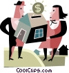 Couple buying a new home Vector Clipart picture