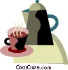 Vector Clipart graphic  of a Coffee pot and cup of coffee