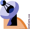 Vector Clip Art picture  of a Satellite dish