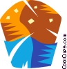 Chocolate chip Muffins Vector Clipart image