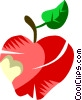 Apple with a bite out of it Vector Clip Art picture