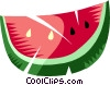 Slice of watermelon Vector Clipart illustration