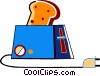 Toaster with bread Vector Clipart image