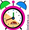 Colorful alarm clock Vector Clipart illustration