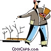Vector Clipart picture  of a Farmers