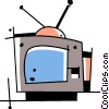 Vector Clip Art graphic  of a Television set