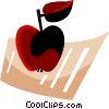 Vector Clip Art graphic  of an Apple and document
