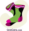 Vector Clip Art graphic  of a Warm socks