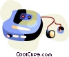 Vector Clipart picture  of a Portable cd player