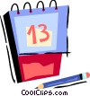 Vector Clipart image  of a Calendar with pencil