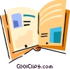Vector Clipart illustration  of a Open book