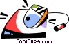 Vector Clipart graphic  of a Computer mouse