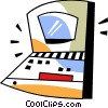 Notebook computer Vector Clipart illustration