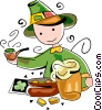 St. Patrick's day celebrations Vector Clip Art image