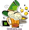 Vector Clip Art picture  of a St. Patrick's day beer and pot