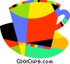 Colorful teacup Vector Clipart illustration
