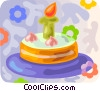 Vector Clipart picture  of a Birthday cake