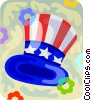 Vector Clipart illustration  of a Uncle Sam's hat