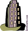 Apartment building Vector Clip Art graphic