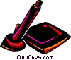 Vector Clipart illustration  of a Graphics tablet