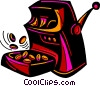 Slot machine paying off Vector Clipart graphic