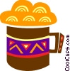 Mug of cold beer Vector Clipart picture