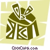 Vector Clipart graphic  of a Christmas Presents Gifts