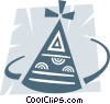 Vector Clip Art graphic  of a Party hat