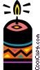 Vector Clipart graphic  of a Christmas candles