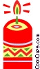 Vector Clip Art image  of a Christmas candles