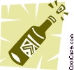 Corked champagne bottle Vector Clip Art picture