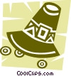 Pioneer's hat Vector Clipart graphic