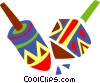 Colorful dreidels Vector Clip Art picture