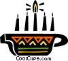 Vector Clipart illustration  of a Colorful Menorah