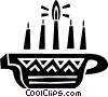 Colorful Menorah Vector Clip Art image