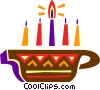 Vector Clip Art picture  of a Colorful Menorah
