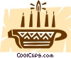 Colorful Menorah Vector Clip Art graphic
