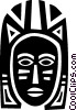 Vector Clipart picture  of an African Mask