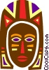 African Mask Vector Clipart graphic