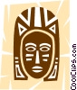 Vector Clipart illustration  of an African Masks