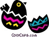 Cracked Easter egg Vector Clipart picture
