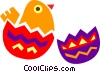 Cracked Easter egg Vector Clipart illustration