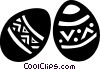 Vector Clip Art graphic  of a Easter eggs