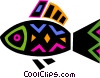 Vector Clip Art graphic  of a Colorful fish