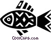 Vector Clipart illustration  of a Colorful fish