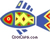 Vector Clipart picture  of a Colorful fish