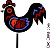 Vector Clipart graphic  of a Colorful rooster