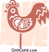 Colorful rooster Vector Clip Art picture