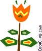 Vector Clipart image  of a Colorful tulip