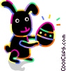 Easter bunny with an Easter egg Vector Clip Art picture